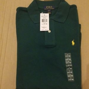 NWT Polo Ralph Lauren Boys T Shirt (L) Green Awni